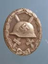 Gold  Wound Badge, unmarked