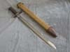 World War I U.S. Army  1910 dated U.S. Army Ordinance stamped bayonet with canvas scabbard
