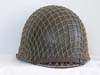 U.S. Army World War II M1 helmet with original netting and rare St. Clair liner