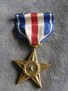 World War II Silver Star and lapel ribbon