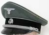 Rare Waffen SS General officers visor as worn by the ranks of Oberfuhrer through Oberstgruppenfuhrer