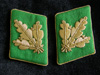 Very rare, mint set of Polizei Brigadefuhrer ( General rank) collar tabs
