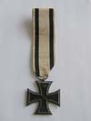 Imperial German Iron Cross 1st Class with ribbon for non-combatant