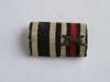 Ribbon bar for WWI veteran with Iron Cross 2nd Class and War service medal
