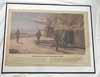 Original period framed artwork  Kriegsmarine Kustal Artillerie unit