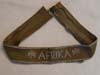 AFRIKA cufftitle for serving in African campaign