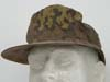 Waffen SS M42 camouflage field cap with machine sewn ventilation grommets
