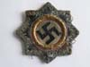 Published Heer / Waffen SS Cloth Version German Cross in Gold, Type 3