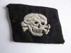 Waffen SS 3rd Panzer DivisionTotenkopf late war wembroidered skull tab