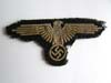 Waffen SS embroidered sleeve eagle, tunic removed