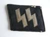 Waffen SS machine woven right side runic tab