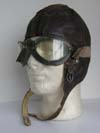Luftwaffe winter flying helmet without avionics with flying goggles