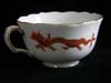Near unobtainable two Red Dragon demitasse cups by Meissen removed from the Eagles Nest