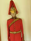 King's Dragoon Guards officer's full dress tunic and helmet, with belts