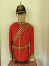 Sherwood Foresters officer's full dress uniform and officer's blue cloth helmet