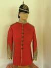 Sherwood Foresters Volunteer Battalion officer's full dress tunic with silver lace