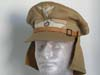 Luftwaffe tropenschirmutze complete with neck shield and original leather chinstrap