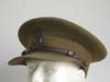 WWII Royal Canadian Army officer's visor hat with owner's initials