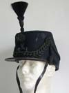1912 dated Cameronian Rifles shako officer with parade feather