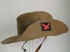 WWII British 4th Indian Division slouch hat with unit patch