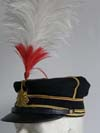 Imperial Japanese Army officer parade hat with feather