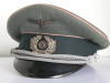 Army Panzer officer visor hat by Erel