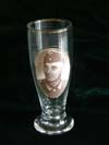 Memorial beer glass for fallen Wehrmacht soldier