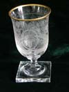 Very rare Hermann Goring crystal wine goblet