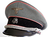 Waffen SS Panzer officer visor hat by Peter Kupper