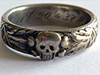 SS Death's Head (<em>Totenkopf</em>) Honor Ring, awarded to SS officer Limbart