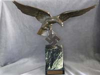 Rare and stunning Luftwaffe presentation bronze by German artist Schmidt-Hofer