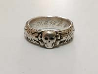 SS Totenkopfring (Honor Ring) awarded to SS officer Müller dated 21.6.42