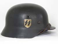 Waffen SS M40 single decal helmet by Quist