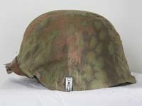 Waffen SS M40 helmet,no decal with Oak Leaf camouflage 1st model helmet cover