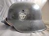 M40 Polizei double decal combat worn helmet by EF