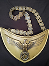 NSDAP Standard Bearer gorget by RZM M1/128 with matching numbers chain